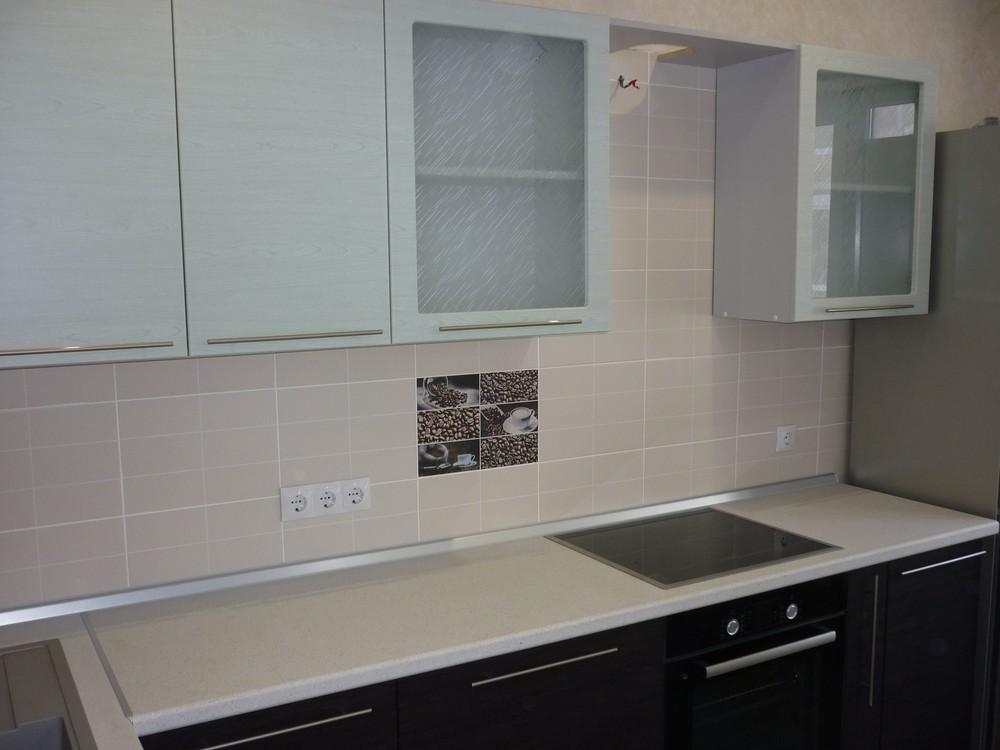 Кухни на заказ-Кухня МДФ в ПВХ «Модель 240»-фото2