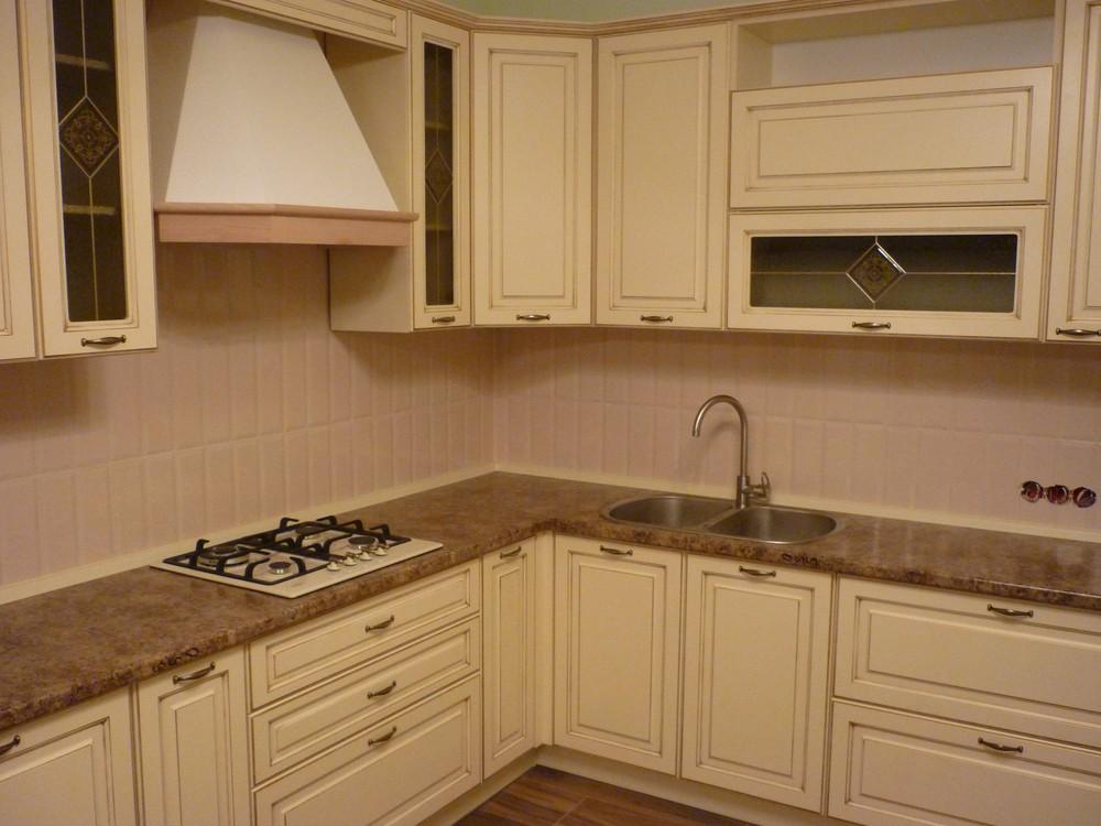 Белый кухонный гарнитур-Кухня из массива «Модель 242»-фото3
