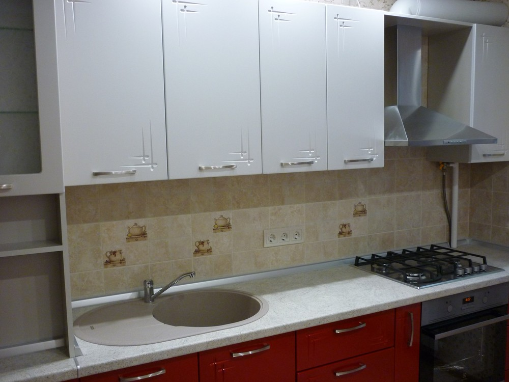 Встроенная кухня-Кухня МДФ в ПВХ «Модель 253»-фото2