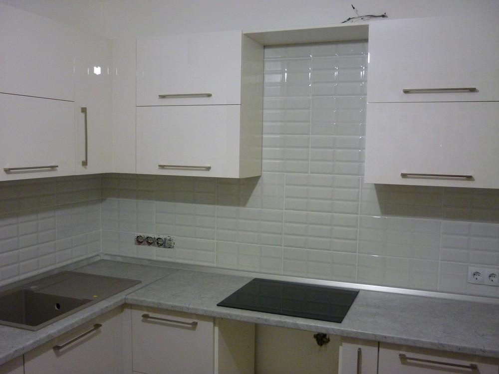 Встроенная кухня-Кухня МДФ в эмали «Модель 248»-фото2
