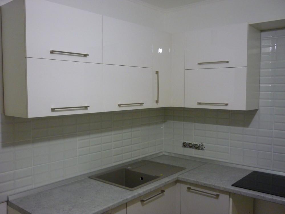 Встроенная кухня-Кухня МДФ в эмали «Модель 248»-фото3