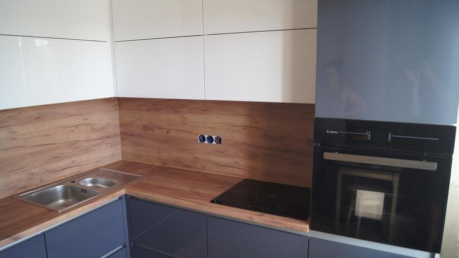 Белый кухонный гарнитур-Кухня МДФ в эмали «Модель 230»-фото4