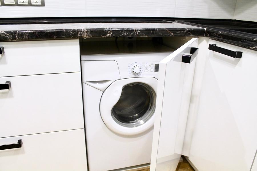 Белый кухонный гарнитур-Кухня МДФ в ПВХ «Модель 300»-фото6
