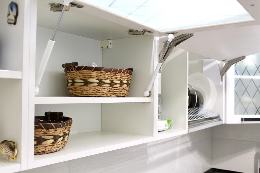Белый кухонный гарнитур-Кухня МДФ в ПВХ «Модель 300»-фото8