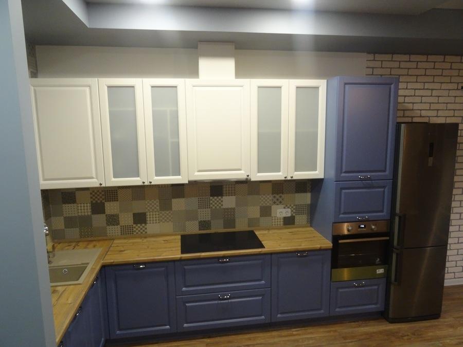 Встроенная кухня-Кухня МДФ в ПВХ «Модель 510»-фото2