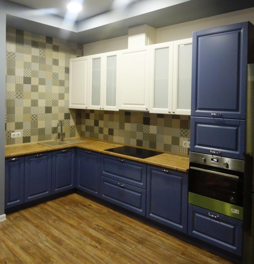 Встроенная кухня-Кухня МДФ в ПВХ «Модель 510»-фото1