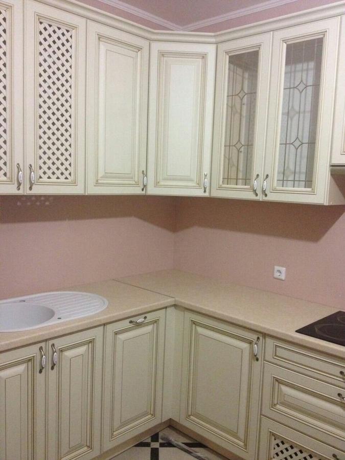 Белый кухонный гарнитур-Кухня МДФ в ПВХ «Модель 394»-фото2