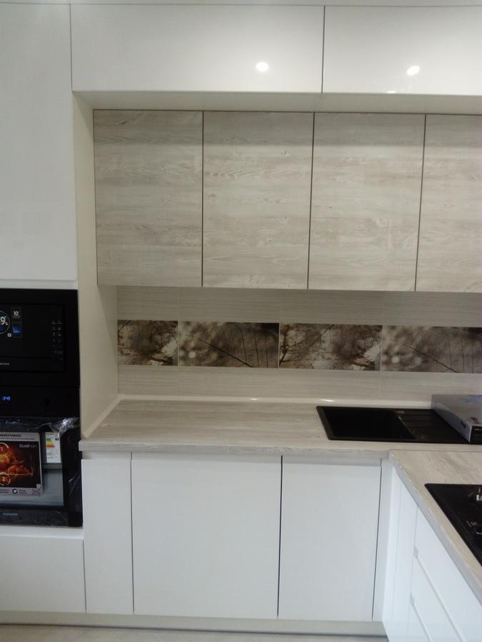 Белый кухонный гарнитур-Кухня МДФ в эмали «Модель 429»-фото2