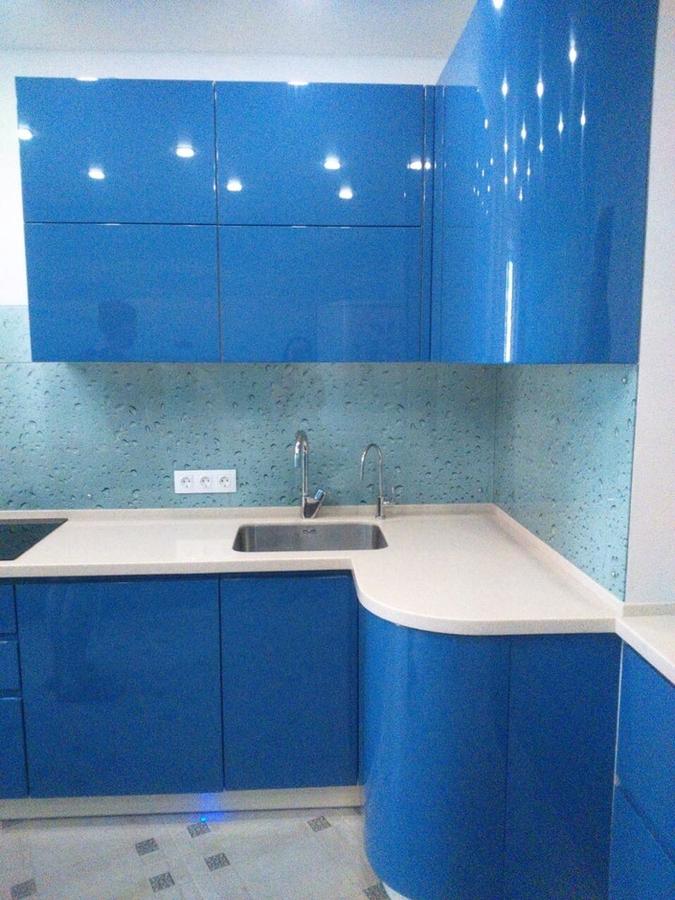 Глянцевые кухни-Кухня МДФ в эмали «Модель 428»-фото4
