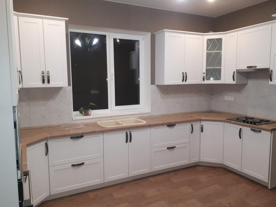 Белый кухонный гарнитур-Кухня «Модель 493»-фото1