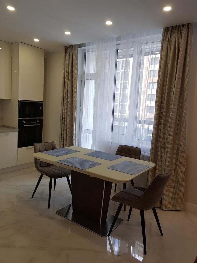 Белый кухонный гарнитур-Кухня из пластика «Модель 467»-фото2