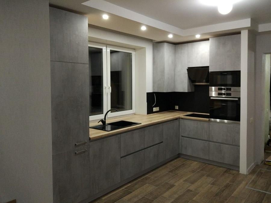 Встроенная кухня-Кухня из пластика «Модель 450»-фото3