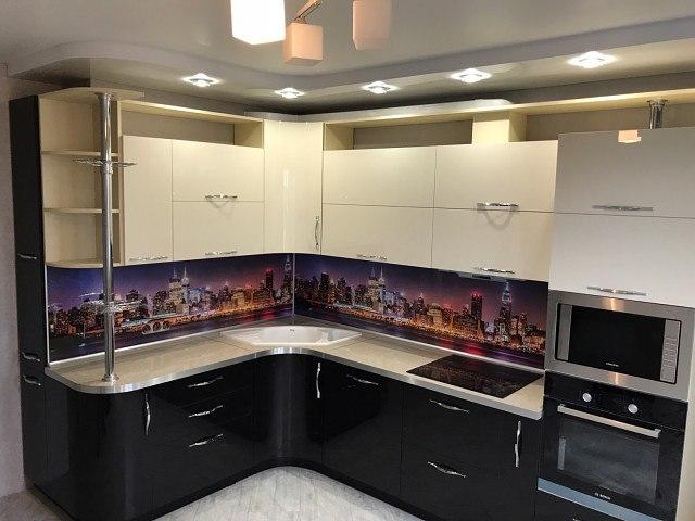 Глянцевые кухни-Кухня из пластика «Модель 398»-фото1