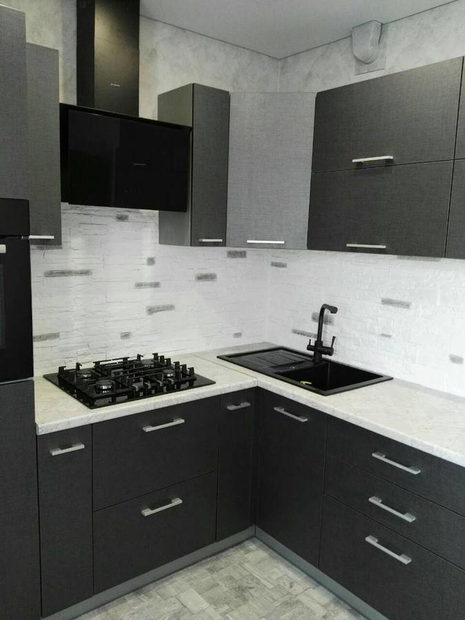 Встроенная кухня-Кухня из пластика «Модель 396»-фото1