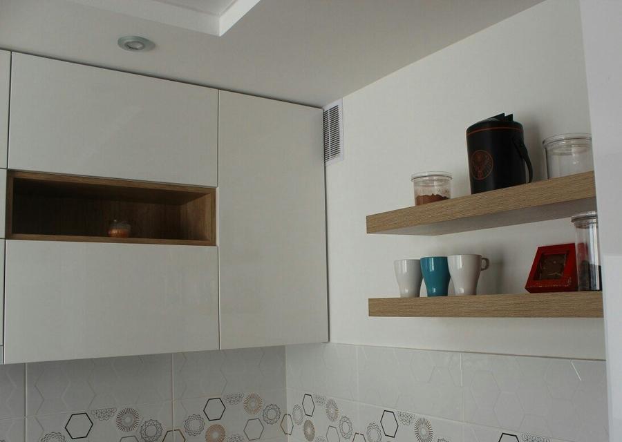 Белый кухонный гарнитур-Кухня из пластика «Модель 87»-фото5