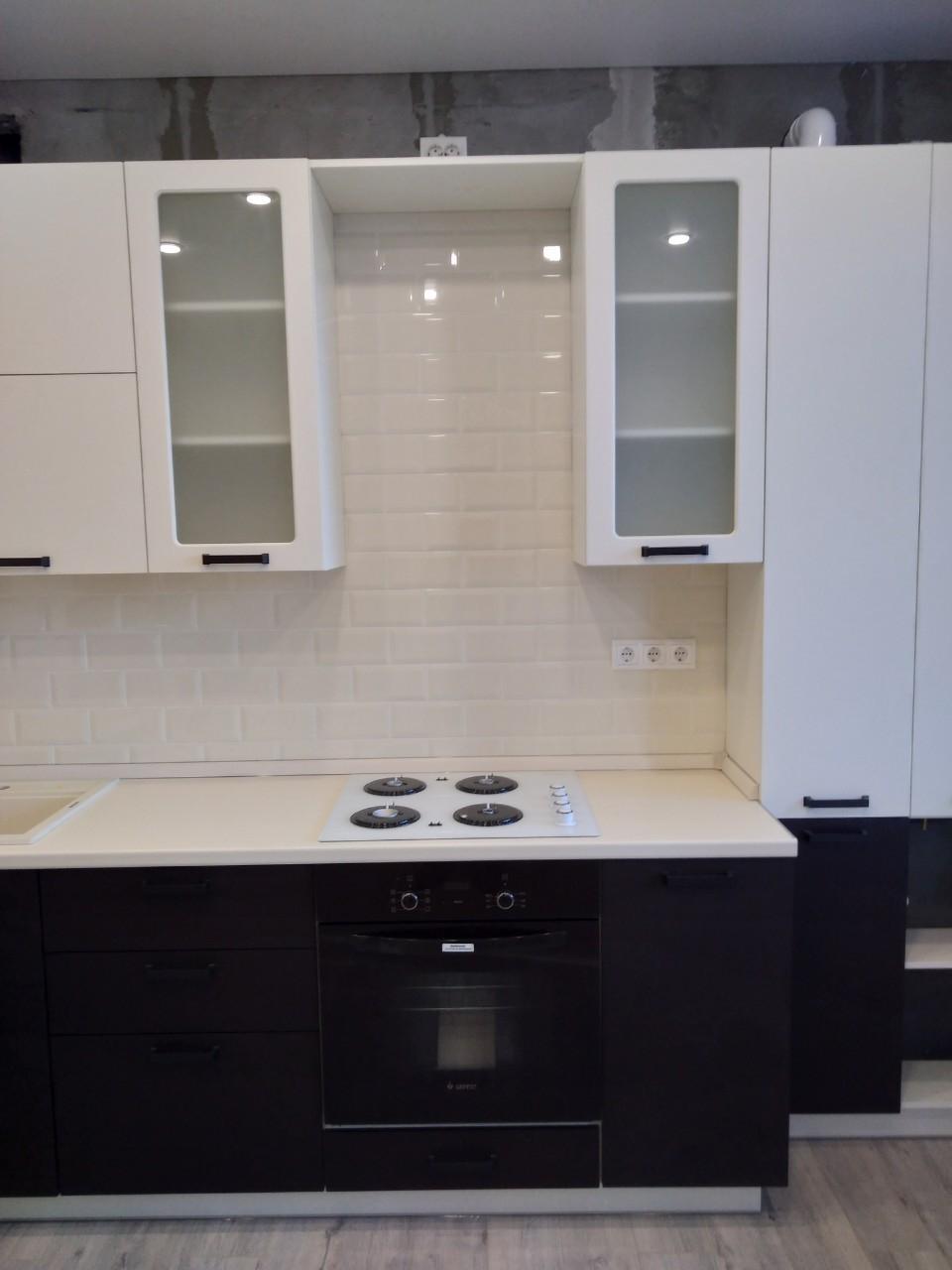 Белый кухонный гарнитур-Кухня МДФ в ПВХ «Модель 545»-фото5