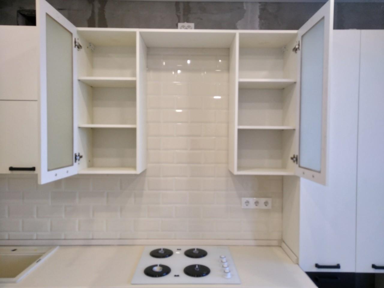 Белый кухонный гарнитур-Кухня МДФ в ПВХ «Модель 545»-фото8