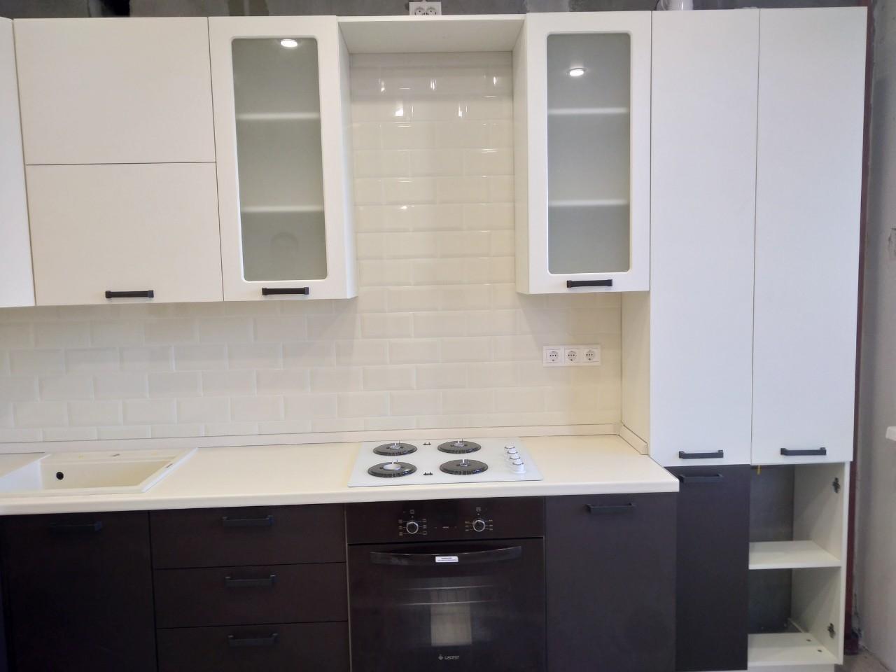 Белый кухонный гарнитур-Кухня МДФ в ПВХ «Модель 545»-фото6