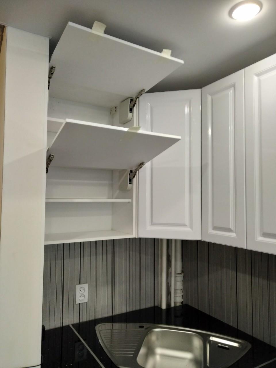 Белый кухонный гарнитур-Кухня МДФ в ПВХ «Модель 533»-фото7