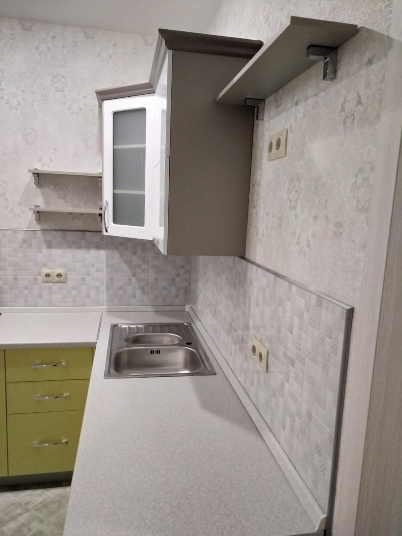 Белый кухонный гарнитур-Кухня МДФ в ПВХ «Модель 525»-фото5