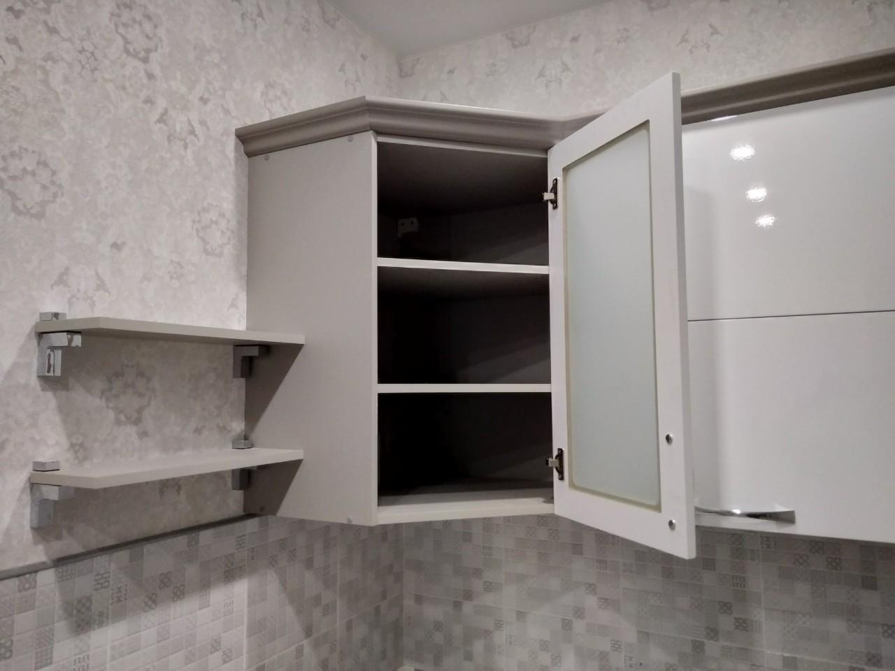 Белый кухонный гарнитур-Кухня МДФ в ПВХ «Модель 525»-фото8