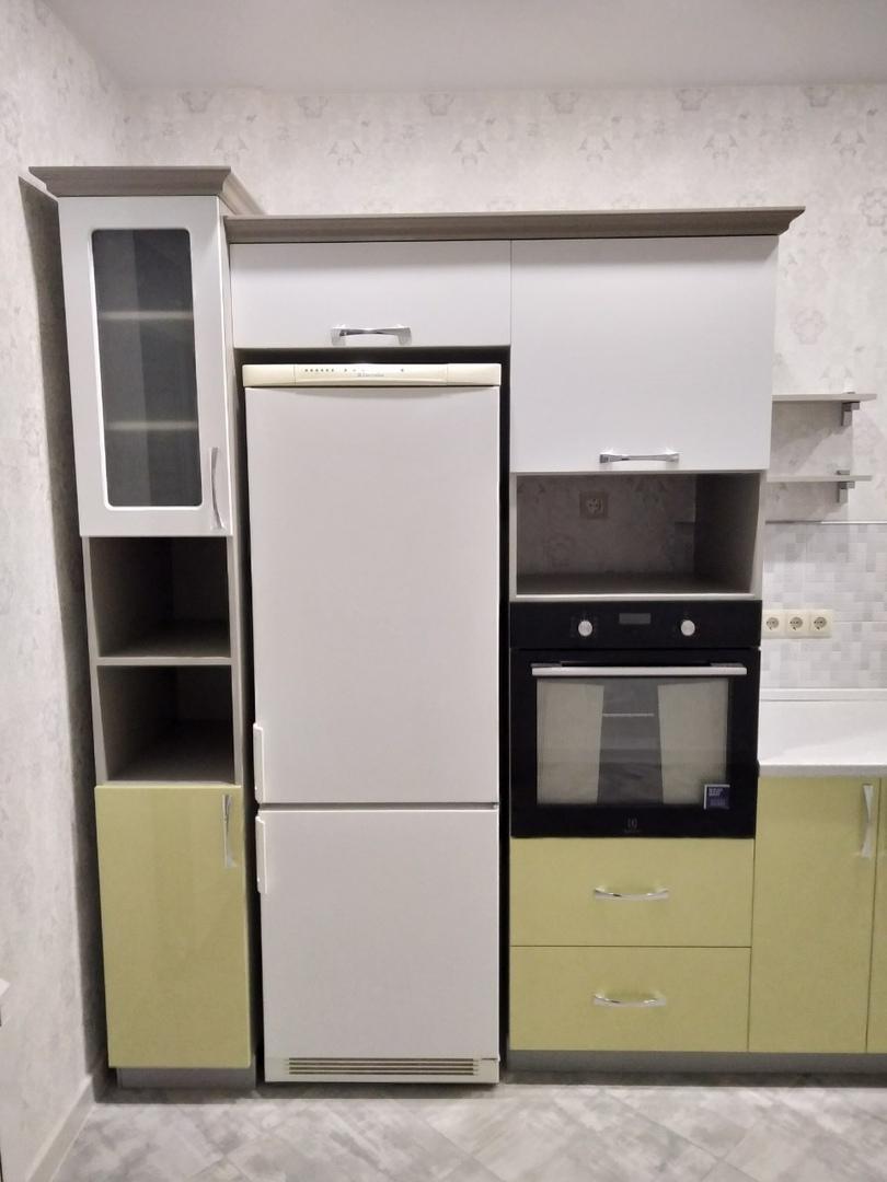 Белый кухонный гарнитур-Кухня МДФ в ПВХ «Модель 525»-фото3