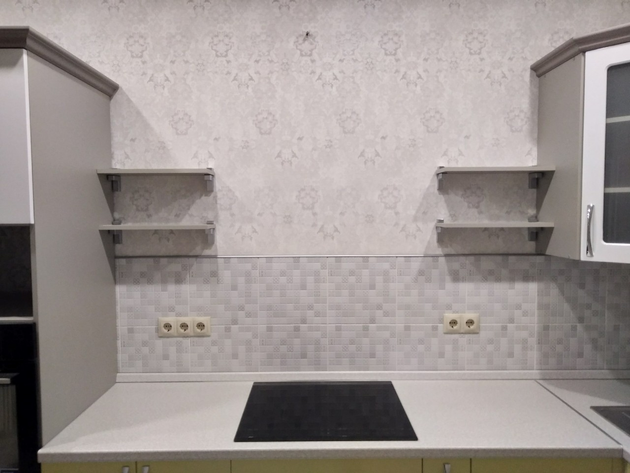 Белый кухонный гарнитур-Кухня МДФ в ПВХ «Модель 525»-фото6