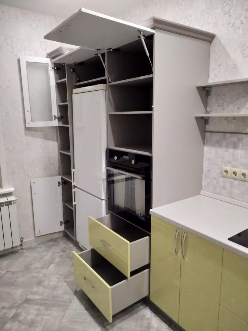 Белый кухонный гарнитур-Кухня МДФ в ПВХ «Модель 525»-фото7