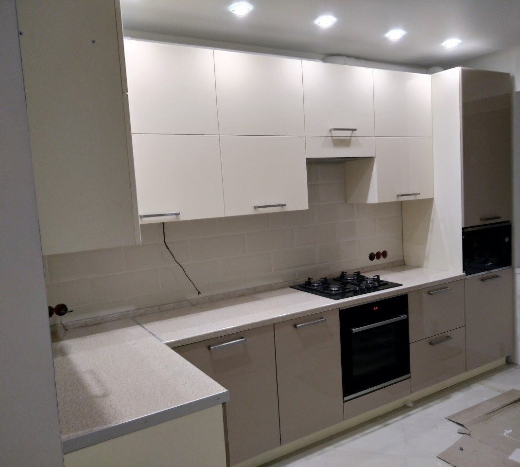 Акриловые кухни-Кухня из пластика «Модель 536»-фото2
