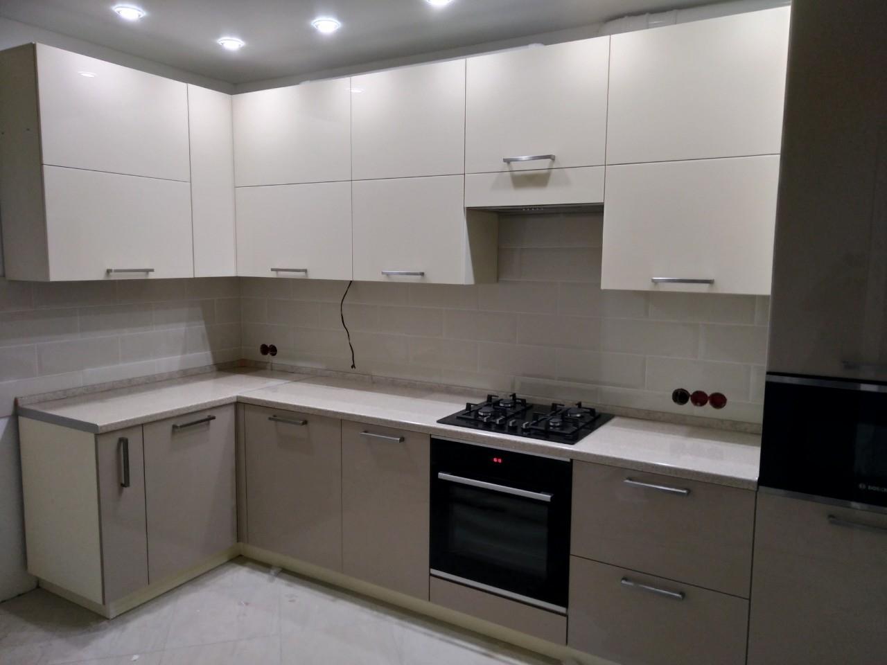 Акриловые кухни-Кухня из пластика «Модель 536»-фото1