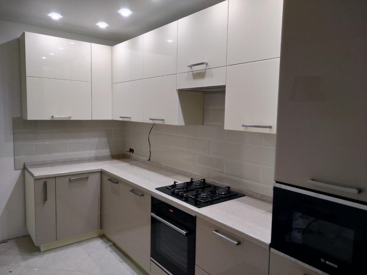 Акриловые кухни-Кухня из пластика «Модель 536»-фото3