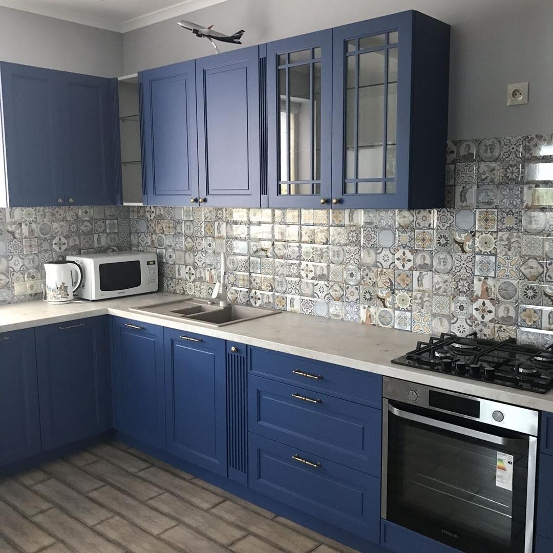 Классические кухни-Кухня МДФ в эмали «Модель 620»-фото1