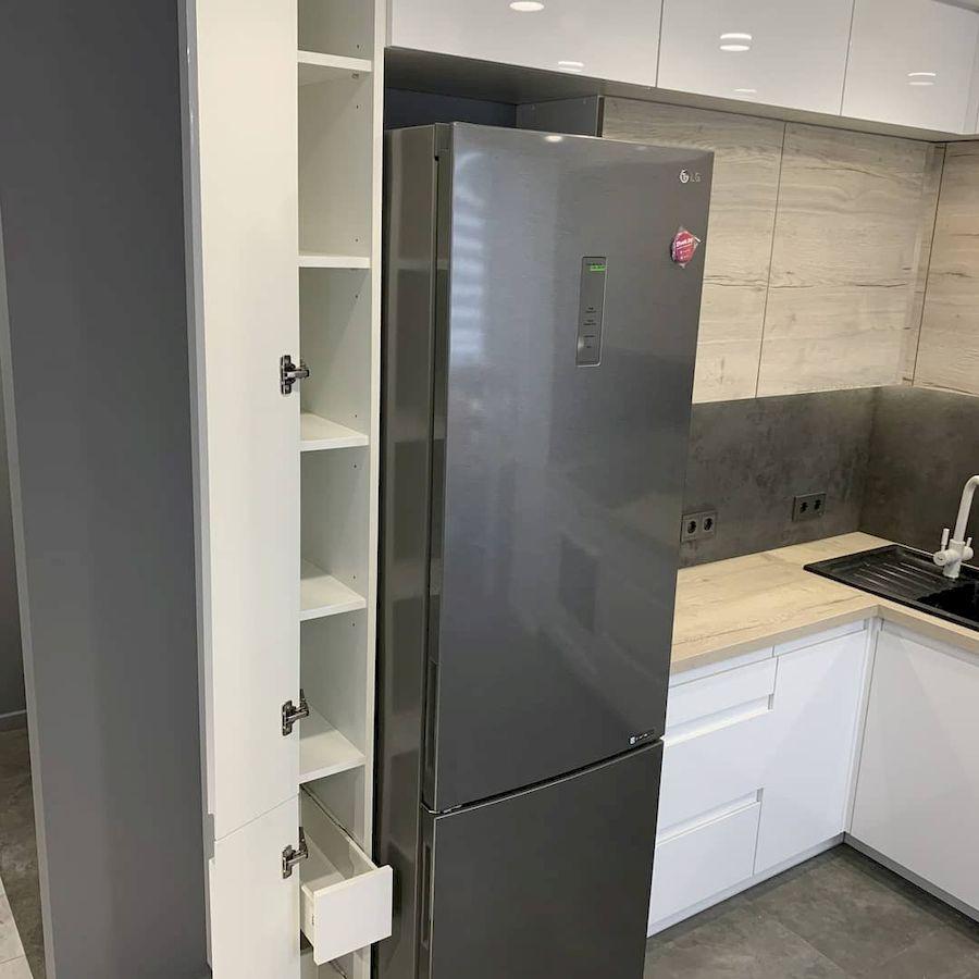 Белый кухонный гарнитур-Кухня МДФ в эмали «Модель 670»-фото6