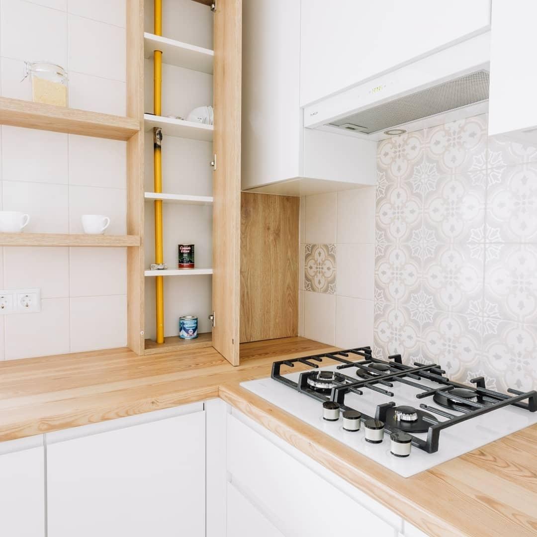 Встроенная кухня-Кухня МДФ в эмали «Модель 614»-фото4