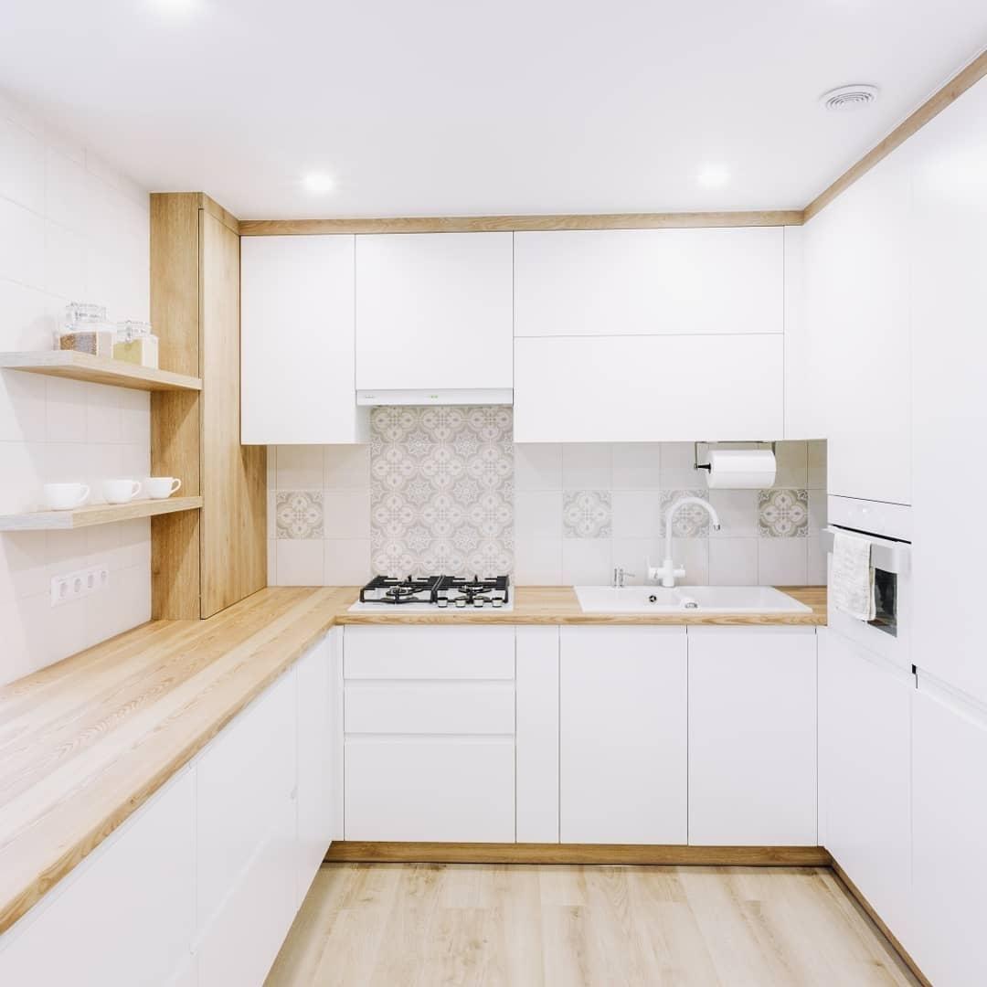 Встроенная кухня-Кухня МДФ в эмали «Модель 614»-фото2