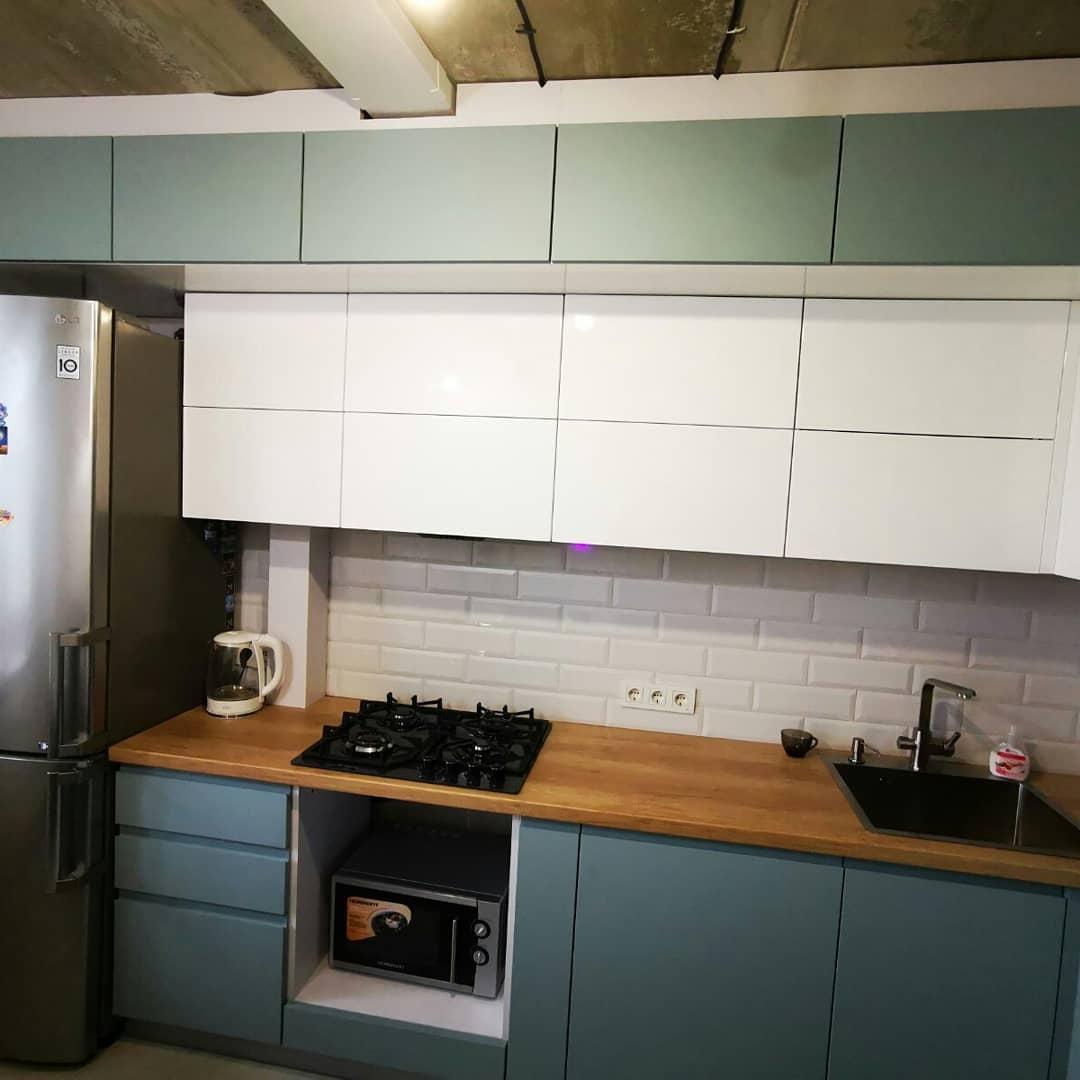 Встроенная кухня-Кухня МДФ в эмали «Модель 624»-фото3
