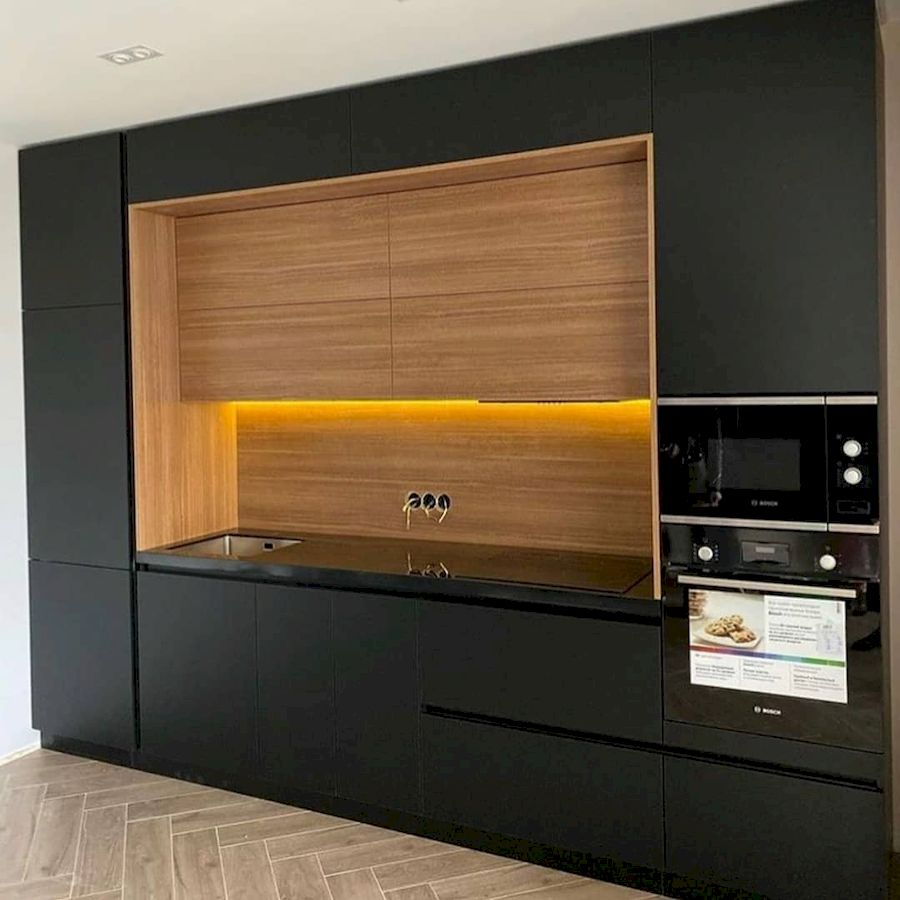 Высокие кухни под потолок-Кухня из пластика «Модель 675»-фото1