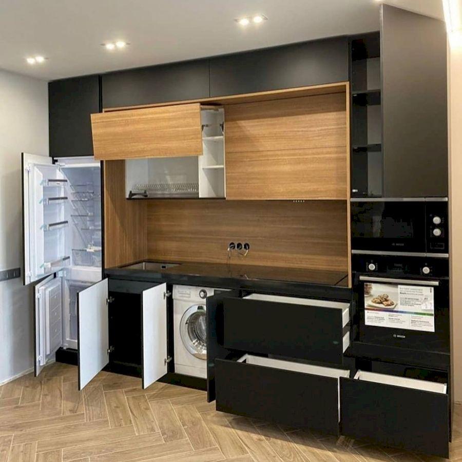 Высокие кухни под потолок-Кухня из пластика «Модель 675»-фото5