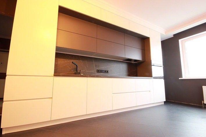 Белый кухонный гарнитур-Кухня МДФ в эмали «Модель 658»-фото2