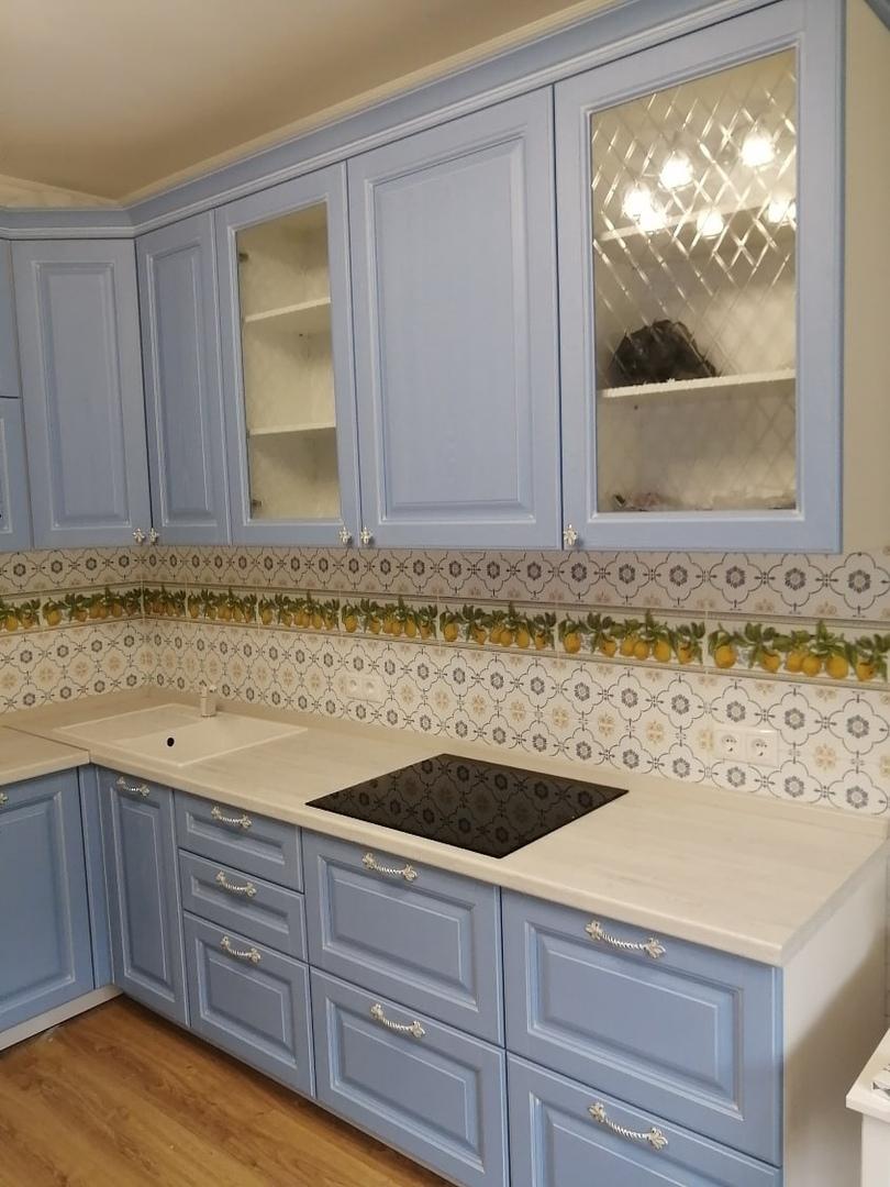 Классические кухни-Кухня МДФ в эмали «Модель 582»-фото2