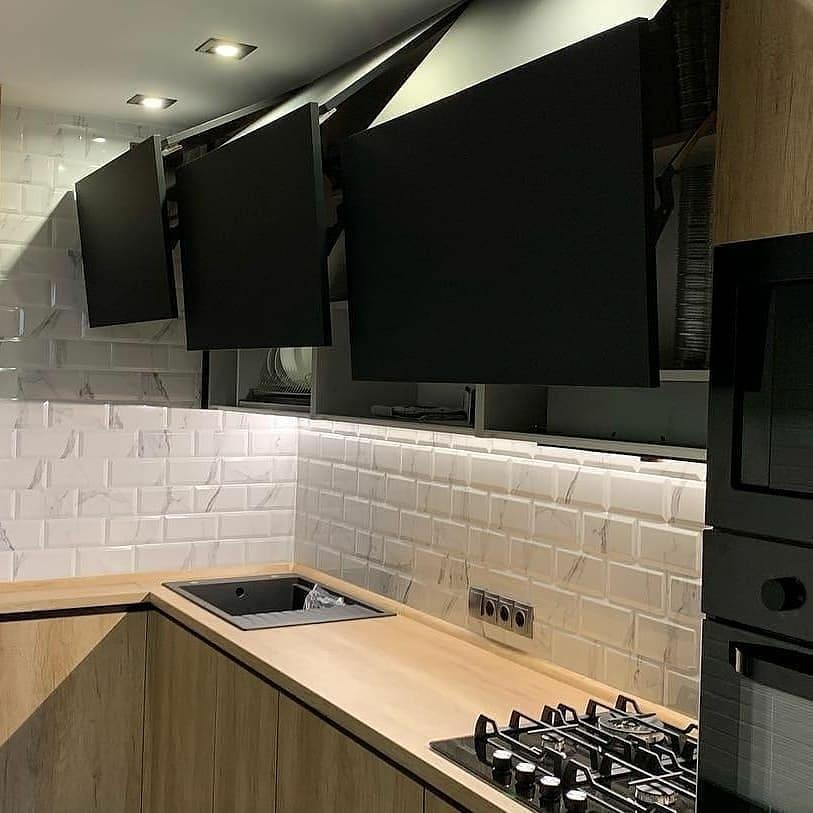 Высокие кухни под потолок-Кухня из ЛДСП «Модель 630»-фото4