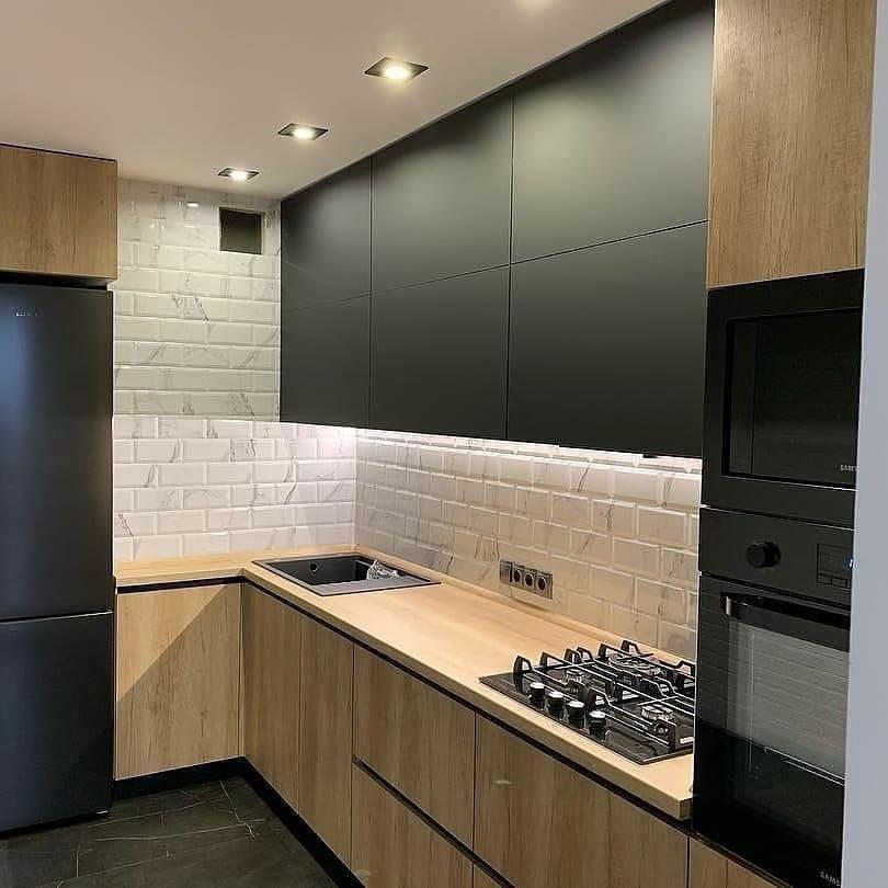 Высокие кухни под потолок-Кухня из ЛДСП «Модель 630»-фото1