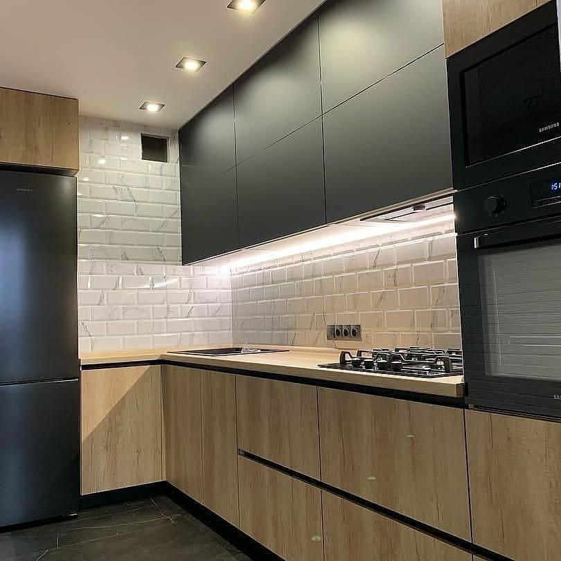 Высокие кухни под потолок-Кухня из ЛДСП «Модель 630»-фото2