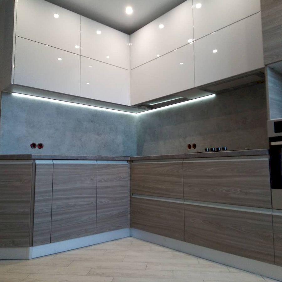 Белый кухонный гарнитур-Кухня из ЛДСП «Модель 653»-фото2
