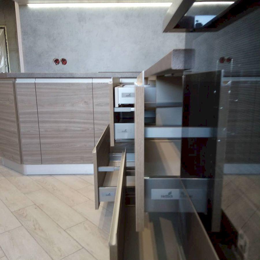 Белый кухонный гарнитур-Кухня из ЛДСП «Модель 653»-фото5