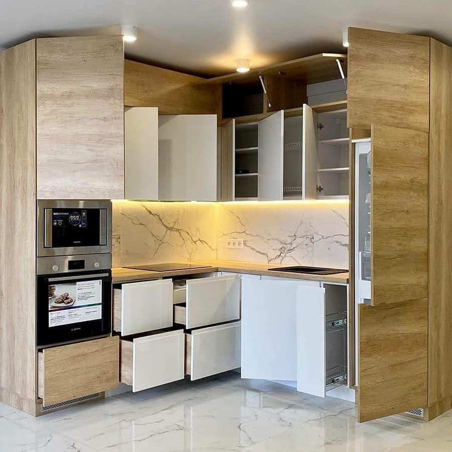 Белый кухонный гарнитур-Кухня из пластика «Модель 682»-фото8