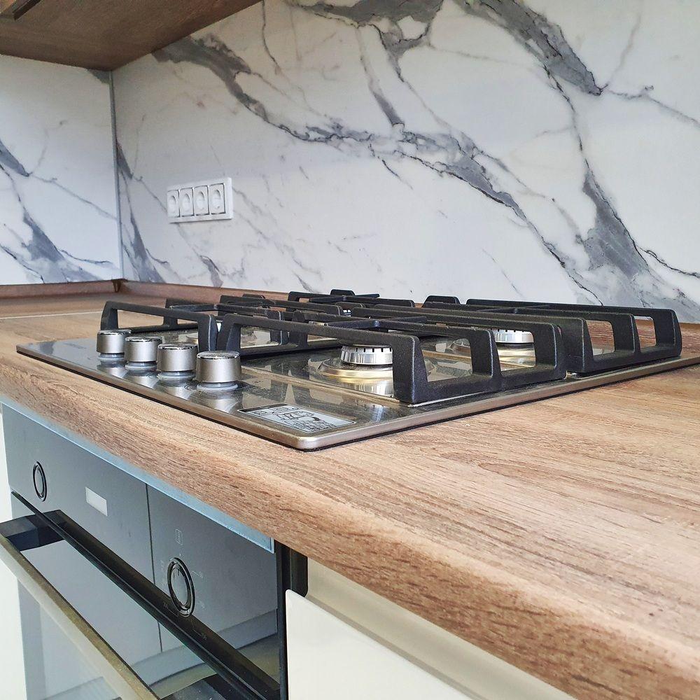 Белый кухонный гарнитур-Кухня МДФ в эмали «Модель 529»-фото6