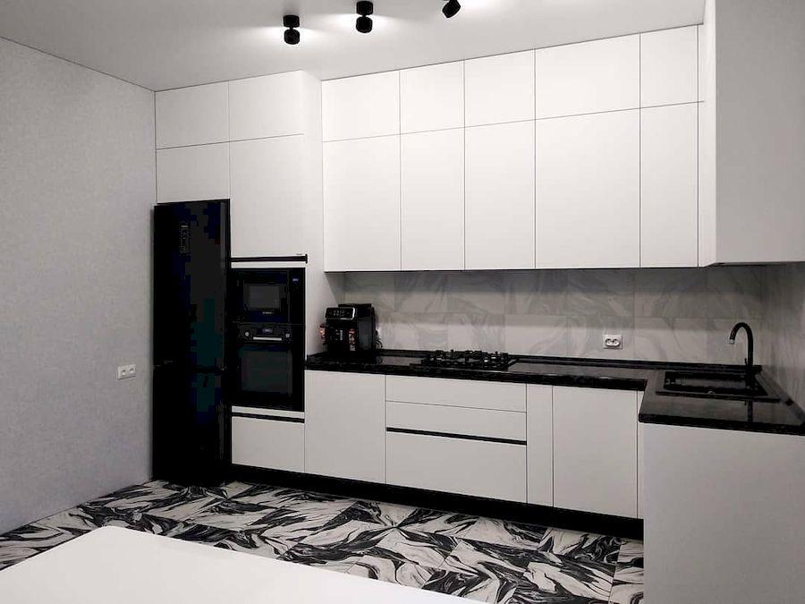 Белый кухонный гарнитур-Кухня МДФ в ПВХ «Модель 639»-фото2