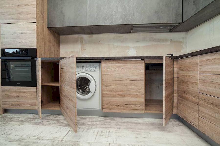 Высокие кухни под потолок-Кухня из ЛДСП «Модель 643»-фото5