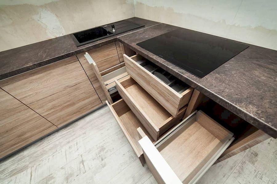 Высокие кухни под потолок-Кухня из ЛДСП «Модель 643»-фото7
